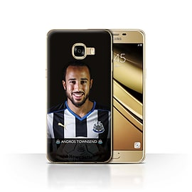 Newcastle United FC Case/Cover for Samsung Galaxy C5/Townsend Design/NUFC Football Player 15/16 Mobile phones