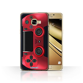 STUFF4 Case/Cover for Samsung Galaxy C5 / Red Design / Playstation PS4 Collection Mobile phones