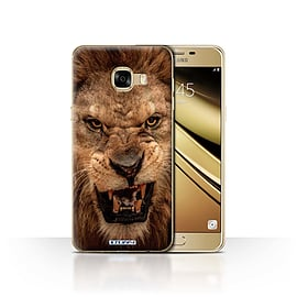 STUFF4 Case/Cover for Samsung Galaxy C5 / Lion Design / Wildlife Animals Collection Mobile phones