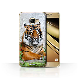 STUFF4 Case/Cover for Samsung Galaxy C5 / Tiger Design / Wildlife Animals Collection Mobile phones