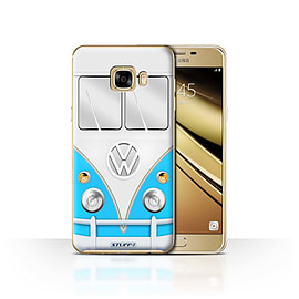 STUFF4 Case/Cover for Samsung Galaxy C7 / Blue Design / VW Camper Van Collection Mobile phones
