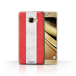 STUFF4 Case/Cover for Samsung Galaxy C5 / Austria/Austrian Design / Flags Collection Mobile phones