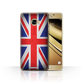 STUFF4 Case/Cover for Samsung Galaxy C5 / Great Britain/British Design / Flags Collection Mobile phones