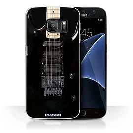 STUFF4 Case/Cover for Samsung Galaxy S7/G930 / Black Electirc Design / Guitar Collection Mobile phones