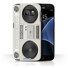 STUFF4 Case/Cover for Samsung Galaxy S7/G930 / Boombox Design / Retro Tech Collection Mobile phones