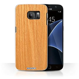 STUFF4 Case/Cover for Samsung Galaxy S7/G930 / Pine Design / Wood Grain Effect/Pattern Collection Mobile phones