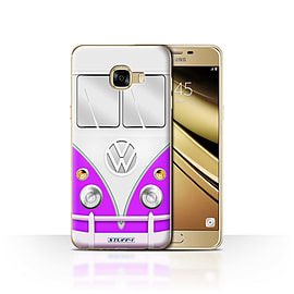 STUFF4 Case/Cover for Samsung Galaxy C5 / Purple Design / VW Camper Van Collection Mobile phones