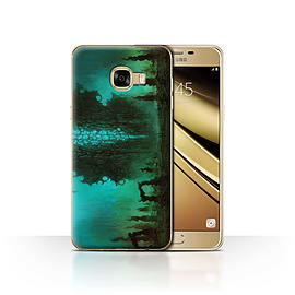 Official Chris Cold Case/Cover for Samsung Galaxy C5/Alien Landscape Design/Alien World Cosmos Mobile phones