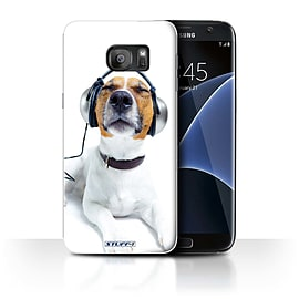 STUFF4 Case/Cover for Samsung Galaxy S7 Edge/G935/Chillin Headphone Dog Design/Funny Animals Mobile phones