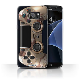 STUFF4 Case/Cover for Samsung Galaxy S7 Edge/G935/Desert Camouflage Design/Playstation PS4 Mobile phones