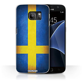 STUFF4 Case/Cover for Samsung Galaxy S7/G930 / Sweden/Swedish Design / Flags Collection Mobile phones