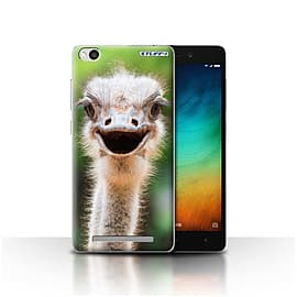 STUFF4 Case/Cover for Xiaomi Redmi 3 / Ostrich/Emu Design / Wildlife Animals Collection Mobile phones