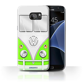 STUFF4 Case/Cover for Samsung Galaxy S7 Edge/G935 / Green Design / VW Camper Van Collection Mobile phones