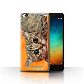 STUFF4 Case/Cover for Xiaomi Redmi 3 / Big Eye Cat Design / Funny Animals Collection Mobile phones
