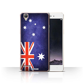 STUFF4 Case/Cover for Oppo F1 / Australia/Australian Design / Flags Collection Mobile phones