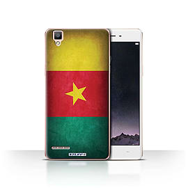 STUFF4 Case/Cover for Oppo F1 / Cameroon/Cameroonian Design / Flags Collection Mobile phones
