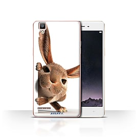 STUFF4 Case/Cover for Oppo F1 / Peeking Bunny Design / Funny Animals Collection Mobile phones