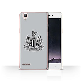Official Newcastle United FC Case/Cover for Oppo F1/Mono/Grey Design/NUFC Football Crest Mobile phones