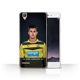 Official Newcastle United FC Case/Cover for Oppo F1/Darlow Design/NUFC Football Player 15/16 Mobile phones