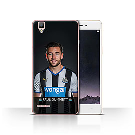 Official Newcastle United FC Case/Cover for Oppo F1/Dummett Design/NUFC Football Player 15/16 Mobile phones