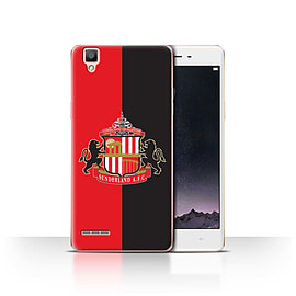Official Sunderland AFC Case/Cover for Oppo F1/Red/Black Design/SAFC Football Club Crest Mobile phones