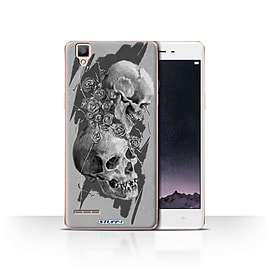 STUFF4 Case/Cover for Oppo F1 / Thorns Design / Skull Art Sketch Collection Mobile phones