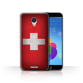STUFF4 Case/Cover for Meizu M3 Note / Switzerland/Swiss Design / Flags Collection Mobile phones