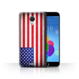 STUFF4 Case/Cover for Meizu M3 Note / America/American/USA Design / Flags Collection Mobile phones