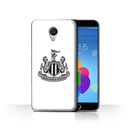 Official Newcastle United FC Case/Cover for Meizu M3 Note/Mono/White Design/NUFC Football Crest Mobile phones