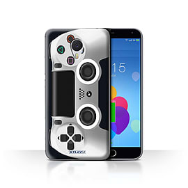 STUFF4 Case/Cover for Meizu M3 Note / White Design / Playstation PS4 Collection Mobile phones