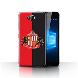 Official Sunderland AFC Case/Cover for Microsoft Lumia 650/Red/Black Design/SAFC Football Club Crest Mobile phones