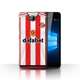 Sunderland AFC Case/Cover for Microsoft Lumia 650/Footballer Design/SAFC Home Shirt/Kit 15/16 Mobile phones