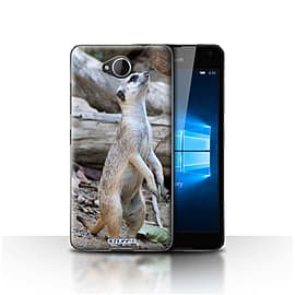 STUFF4 Case/Cover for Microsoft Lumia 650 / Meerkat Design / Wildlife Animals Collection Mobile phones