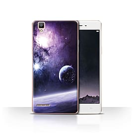 Official Chris Cold Case/Cover for Oppo F1 / Planet/Moon Design / Alien World Cosmos Collection Mobile phones