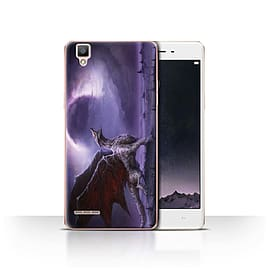 Official Chris Cold Case/Cover for Oppo F1 / Dragon/Eclipse Design / Dark Art Demon Collection Mobile phones