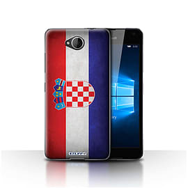 STUFF4 Case/Cover for Microsoft Lumia 650 / Croatia/Croatian Design / Flags Collection Mobile phones