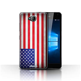 STUFF4 Case/Cover for Microsoft Lumia 650 / America/American/USA Design / Flags Collection Mobile phones