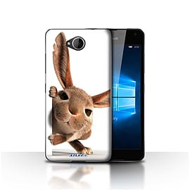 STUFF4 Case/Cover for Microsoft Lumia 650 / Peeking Bunny Design / Funny Animals Collection Mobile phones