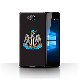Newcastle United FC Case/Cover for Microsoft Lumia 650/Colour/Black Design/NUFC Football Crest Mobile phones
