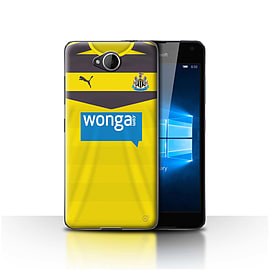 Newcastle United FC Case/Cover for Microsoft Lumia 650/Goalkeeper Design/NUFC Home Shirt/Kit 15/16 Mobile phones