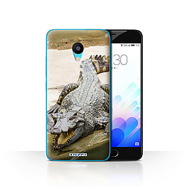STUFF4 Case/Cover for Meizu M3 / Crocodile Design / Wildlife Animals Collection Mobile phones