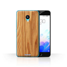 STUFF4 Case/Cover for Meizu M3 / Oak Design / Wood Grain Effect/Pattern Collection Mobile phones