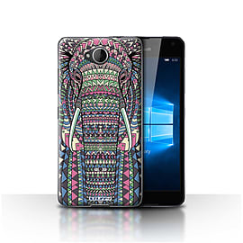 STUFF4 Case/Cover for Microsoft Lumia 650 / Elephant-Colour Design / Aztec Animal Design Collection Mobile phones