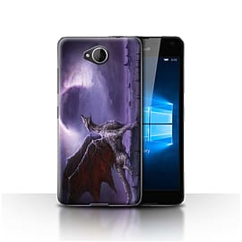 Official Chris Cold Case/Cover for Microsoft Lumia 650/Dragon/Eclipse Design/Dark Art Demon Mobile phones