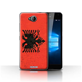 STUFF4 Case/Cover for Microsoft Lumia 650 / Albania/Albanian Design / Flags Collection Mobile phones