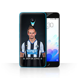 Official Newcastle United FC Case/Cover for Meizu M3/De Jong Design/NUFC Football Player 15/16 Mobile phones