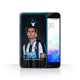 Official Newcastle United FC Case/Cover for Meizu M3/Janmaat Design/NUFC Football Player 15/16 Mobile phones