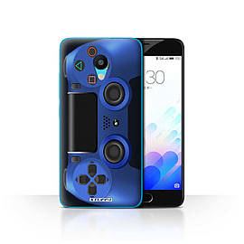 STUFF4 Case/Cover for Meizu M3 / Blue Design / Playstation PS4 Collection Mobile phones