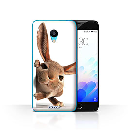 STUFF4 Case/Cover for Meizu M3 / Peeking Bunny Design / Funny Animals Collection Mobile phones