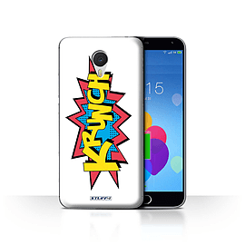 STUFF4 Case/Cover for Meizu M3 Note / Krunch Design / Comics/Cartoon Words Collection Mobile phones